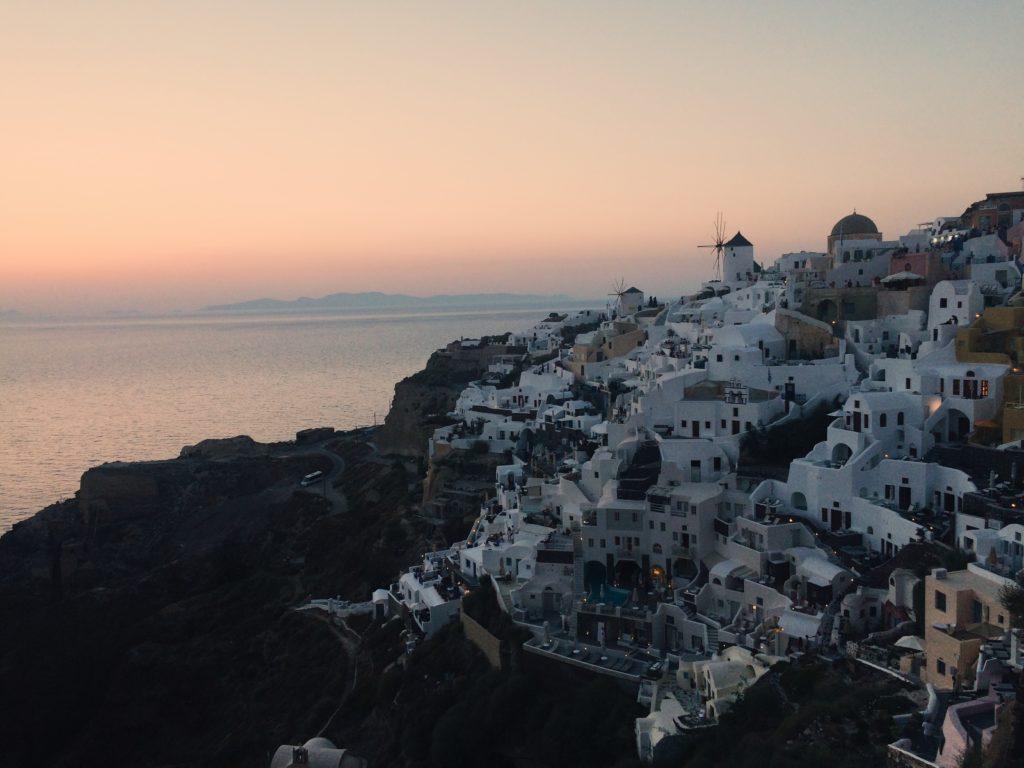 Oia zachód słońca na Santorini